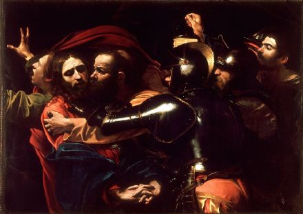 Caravaggio, Michelangelo Merisi da: The Taking of Christ. Fine Art Print/Poster. Sizes: A4/A3/A2/A1 (002080)